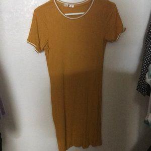Tight yellow dress large